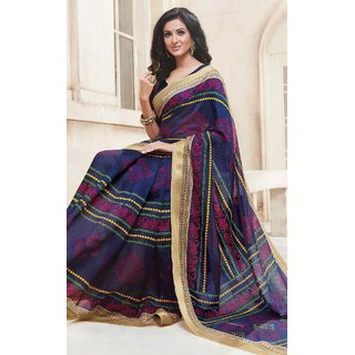 3937c9843e Buy Sudarshan Multicolor Cotton Printed Saree With Blouse Online ...
