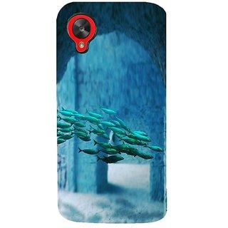 Fuson Designer Phone Back Case Cover LG Nexus 5 :: LG Google Nexus 5 :: Google Nexus 5 ( A School Of Fish )