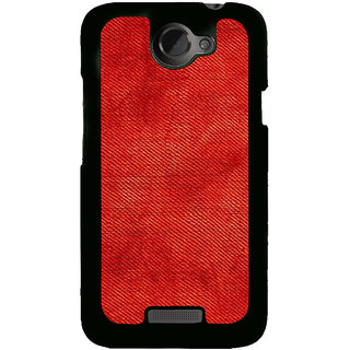 Fuson Designer Back Cover For HTC One X :: HTC One X+ :: HTC One X Plus :: HTC One XT (Marine Red Jeans FAded Shaded)
