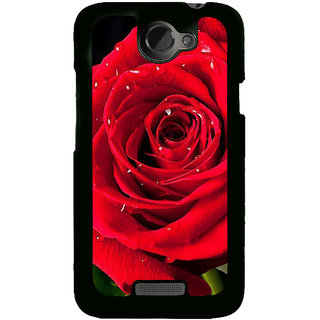 Fuson Designer Back Cover For HTC One X :: HTC One X+ :: HTC One X Plus :: HTC One XT (Rose Lovely Rose Beautiful Rose Red Rose Red)