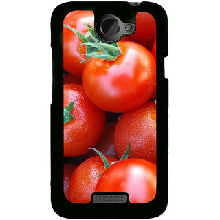 Fuson Designer Back Cover For HTC One X :: HTC One X+ :: HTC One X Plus :: HTC One XT (Red Tomatoes Ripe Tomatoes Juicy Tomatoes Juicy)