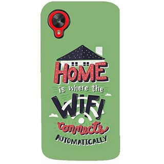 Fuson Designer Phone Back Case Cover LG Nexus 5 :: LG Google Nexus 5 :: Google Nexus 5 ( Home Sweet Home With Wifi )