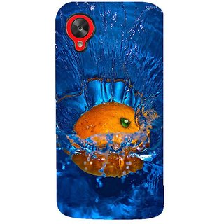 Fuson Designer Phone Back Case Cover LG Nexus 5 :: LG Google Nexus 5 :: Google Nexus 5 ( Orange Dropped Into Water )