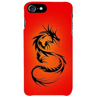 Fuson Designer Phone Back Case Cover Apple IPhone 7 ( The Curled Up Dragon )