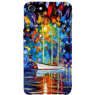 Fuson Designer Phone Back Case Cover Apple IPhone 7 ( Oil Painting Of A Boat )
