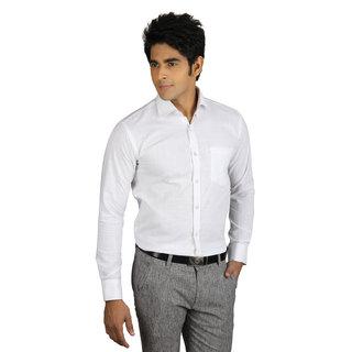 Nexq Linen Formal Shirt Plain White Prices In India Shopclues