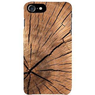 Fuson Designer Phone Back Case Cover Apple IPhone 7 ( The Cracks In The Wood )