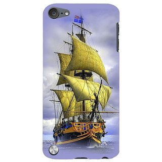 Fuson Designer Phone Back Case Cover Apple IPod Touch 5 :: Apple IPod 5 (5th Generation) ( A Ship In The Ocean )