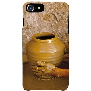 Fuson Designer Phone Back Case Cover Apple IPhone 7 ( Making Clay Pots On Wheel )