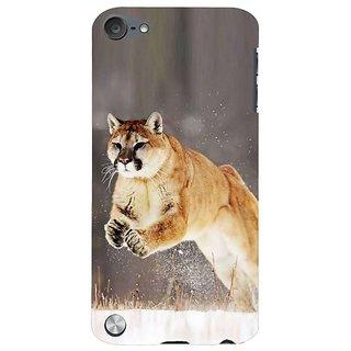 Fuson Designer Phone Back Case Cover Apple IPod Touch 5 :: Apple IPod 5 (5th Generation) ( A Jaguar Pouncing )