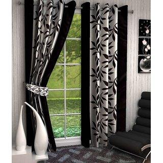 Styletex Set of 2 Door Eyelet Curtains