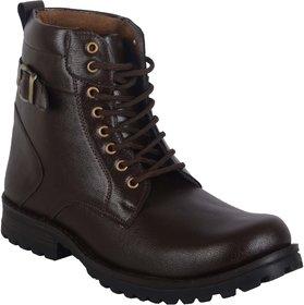 Men's Brown Lace-up Boots
