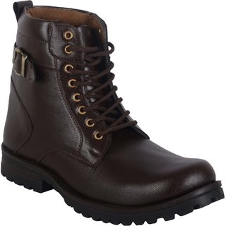 Men's Brown Lace-up Boots