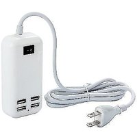 15W 4 USB Ports Desktop Charger With 1.5M Power Cord Fo