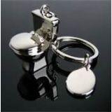 COMMODE Pot Key Chain Full Metallic Keychain Car Bike, Key Ring Toilet Keyring