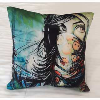 Valtellina  Beautiful Girl  Print Cushion Cover (Set Of 5)