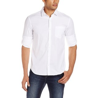 Men's Fashion Casual White Shirt