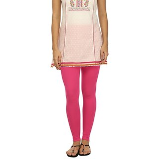 Rupa Pink Cotton Lycra Ankle Length Leggings