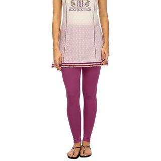 Rupa Pink Cotton Lycra Ankle Length Leggings