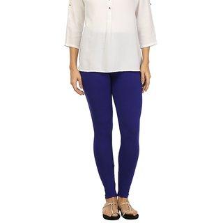 Rupa Blue Cotton Lycra Ankle Length Leggings