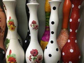 Kapasi Handicrafts Kapasi Handicrafts Brass Etching Work Flower Pot Decorative Flower Vases Home Decor Showpieces