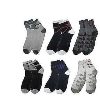 Combo of 6 Pairs Poly Cotton Socks(sports)