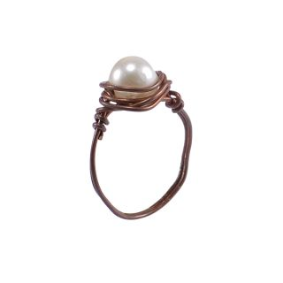 Silvesto India White Brass & Copper Non Plated Ring For Women