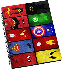 ShopMantra Superhero Cards Notebook