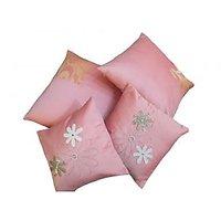 Houz Of KS Set Of 4 Baby Pink Cushion Covers