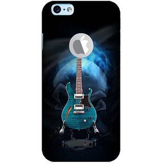 Fuson Designer Phone Back Case Cover Apple iPhone 6S (Logo View Window Case) ( Beautiful Illuminating Blue Guitar )