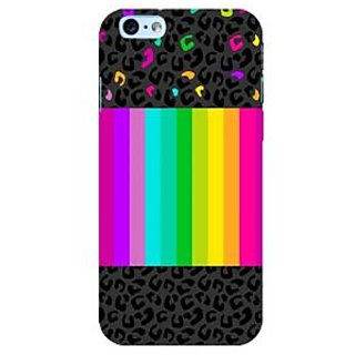 Fuson Designer Phone Back Case Cover Apple iPhone 6S ( Animal Print Beside Rainbow )