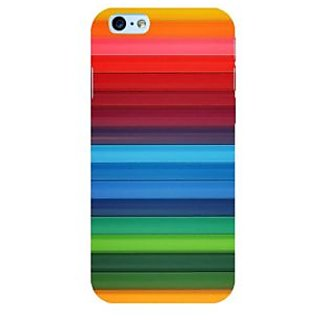 Fuson Designer Phone Back Case Cover Apple iPhone 6S ( Colorful Bands Put Together )