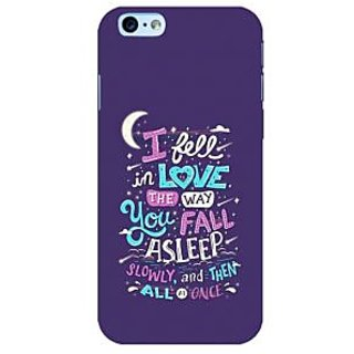 Fuson Designer Phone Back Case Cover Apple iPhone 6S ( Love The Way You Sleep )