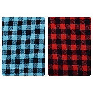 Nakoda Creation Multicolor Men's Cotton Checks Shirt Fabric (Pack Of 2)