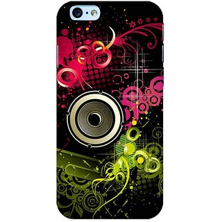 Fuson Designer Phone Back Case Cover Apple iPhone 6S ( Funky Bass Speaker Illustration )