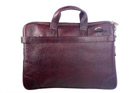 PURE GENUINE Soft Fine Milled Leather new Office Messenger Bag Laptop Bag RBS28BR