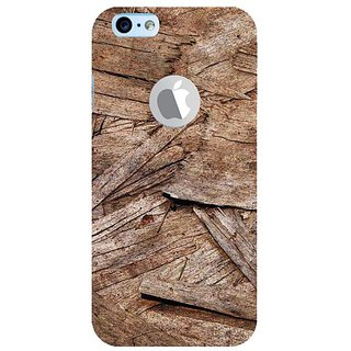 Fuson Designer Phone Back Case Cover Apple iPhone 6S (Logo View Window Case) ( Broken Pieces Of Tree Bark )