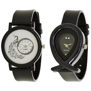 BUY NOW New Brand Super Fast Selling Black More Watch And Black Fis Watch Combo Analog Watch For Girls. Woman All