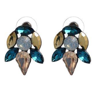 HairCandy BlueSparkle Stud Earrings for Women