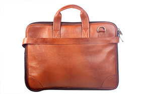 PURE GENUINE Soft Fine Milled Leather new Office Messenger Bag Laptop Bag RBS28TN