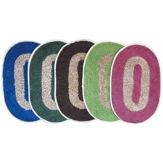 Anjani's Pack of 3 pcs Multicolor Doormats