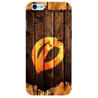Fuson Designer Phone Back Case Cover Apple iPhone 6 Plus :: Apple iPhone 6+ ( Twisted Letter O On Wood )