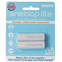 Sanyo Eneloop 2AAx1000mAh 2HR-3UQ-SECP-C-2BP Rechargeable Batteries (White)