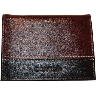 Aarmish Pure Leather Tri Fold Wallet