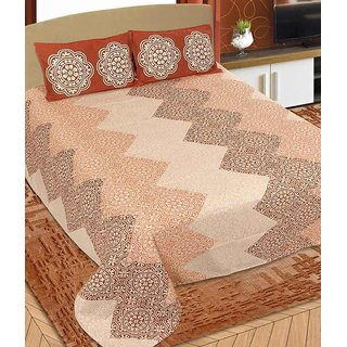 Akash Ganga Double Cotton Ethnic Bedsheet (BC-94)
