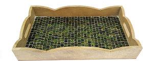 Handicrafts Glass Mosaic Tray