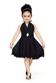 Aarika Girls' Self Design Party Wear  Birthday Special Frock
