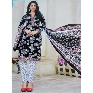 Fashion Bazar Women's Cotton Unstitched Salwar Suit Dress Material