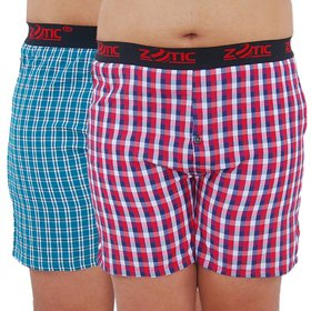 Zotic Men'S Multicolor Boxers(Pack Of 2)
