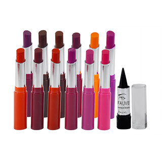 ADS Crystal Moisturising Lipstick Pack of 6 And Free Kajal-D